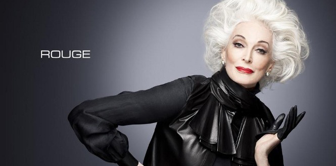 Carmen Dell'Orefice in the Rouge F/W12 Campaign