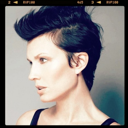 Paula Patrice Haircut Fauxhawk by David Kastin at Cutler Salon