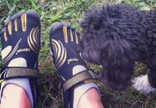 Paula Patrice Vibram FiveFingers Shoes with dog thumb