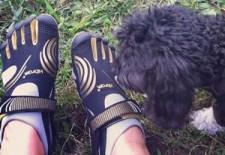 Paula Patrice Vibram FiveFingers Shoes with dog thumb
