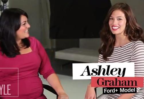 Ashley Graham at Lane Bryant shoot