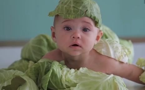 Baby In Lettuce