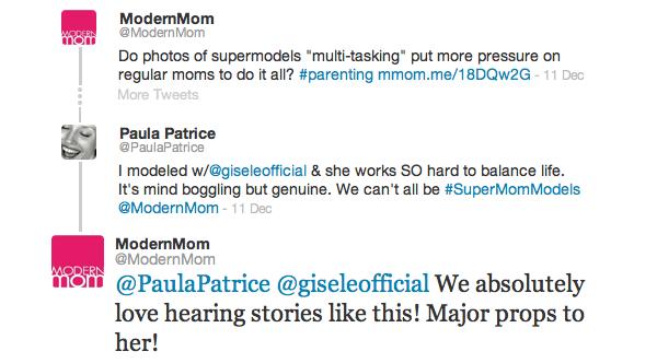 Modern Mom tweet