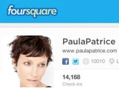 Paula Patrice FourSquare Profile