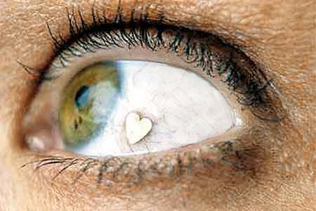 eye bling piercing heart