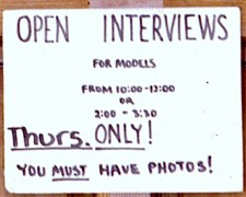 open call models sign