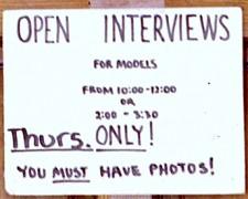 open call models sign